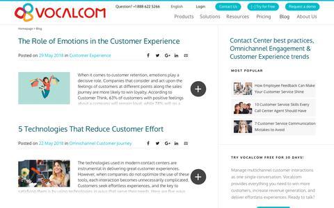 Screenshot of Blog vocalcom.com - Contact Center Blog - Tips, Resources, Guides and Articles - Page 4 - captured Dec. 11, 2018