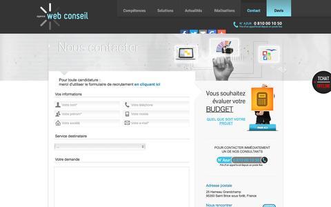 Screenshot of Contact Page agence-web-conseil.com - AGENCE WEB CONSEIL - Contactez notre Web Agency pour votre site internet sur mesure - captured May 29, 2017