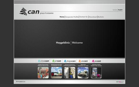 Screenshot of Home Page can-group.net - Can Group - captured Sept. 27, 2014