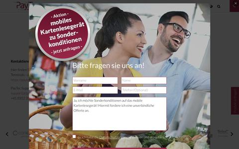 Screenshot of Support Page paytec.ch - Support- PayTec AG - captured Nov. 10, 2018