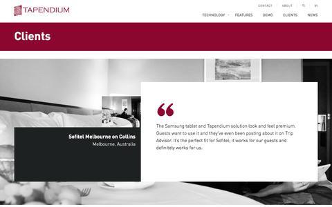 Screenshot of Testimonials Page tapendium.com - Tapendium - captured Sept. 21, 2018