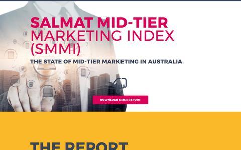 Screenshot of Landing Page salmat.com.au - The Salmat Mid-Tier Marketing Index (SMMI) - captured April 21, 2017