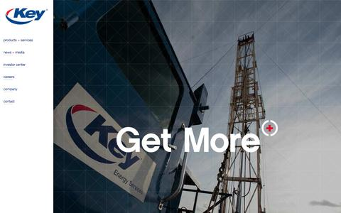 Screenshot of Login Page keyenergy.com - Key Energy Services - captured Oct. 6, 2014