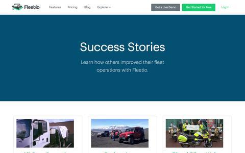 Screenshot of Case Studies Page fleetio.com - Fleet Management Case Studies - Fleetio - captured Jan. 8, 2016