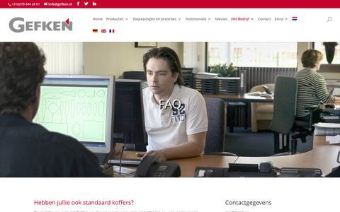 Screenshot of FAQ Page gefken.nl - FAQ · Gefken - captured Oct. 17, 2017