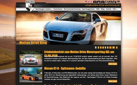 Screenshot of Press Page motion-drive-vermietung.de - Blog - Motion Drive® - captured Sept. 29, 2018
