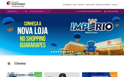 Screenshot of Home Page shopping-guararapes.com - Shopping Guararapes - captured Sept. 29, 2018