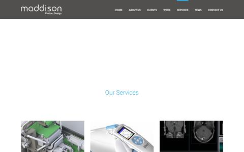 Screenshot of Services Page maddison.co.uk - Services Archive - Maddison - captured Feb. 4, 2016