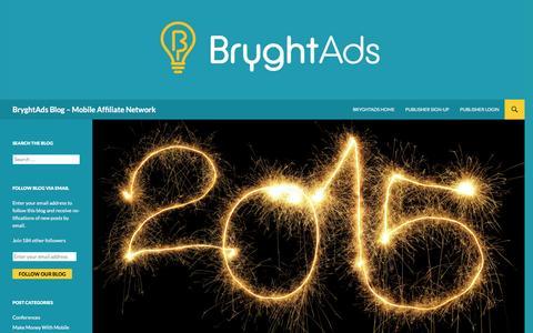 Screenshot of Blog bryghtads.com - BryghtAds Blog – Mobile Affiliate Network - captured Jan. 15, 2016