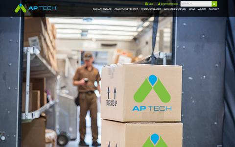 Screenshot of Home Page aptechgroup.com - AP Tech Group - captured July 21, 2019