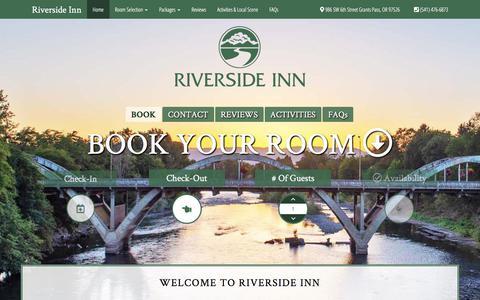 Screenshot of Home Page riverside-inn.com - Welcome to Riverside Inn - Riverside Inn - captured July 2, 2018