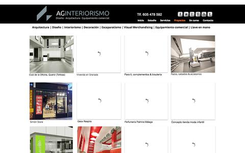 Screenshot of Home Page ag-interiorismo.es - Arquitectura | Interiorismo | Decoración | Obra Integral, Granada - captured Sept. 30, 2014