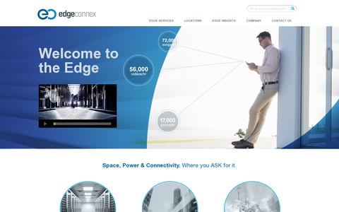 Screenshot of Home Page edgeconnex.com - Welcome to the Edge | EdgeConneX - captured July 11, 2014