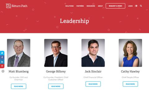 Screenshot of Team Page returnpath.com - Leadership Team   Return Path - captured Dec. 26, 2018