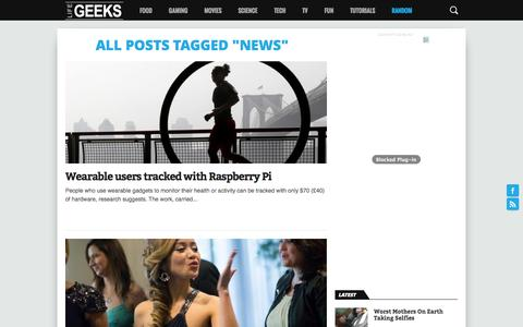 Screenshot of Press Page lifegeeks.co.uk - news Archives - Life Geeks - captured Oct. 31, 2014