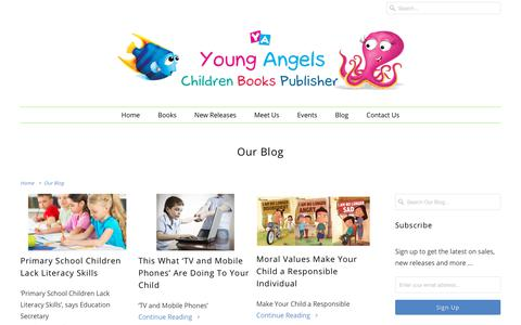 Screenshot of Blog youngangelsinternational.com - International Children Book Publisher | International Book Fair | Book Fair & publishing company - captured Oct. 19, 2018