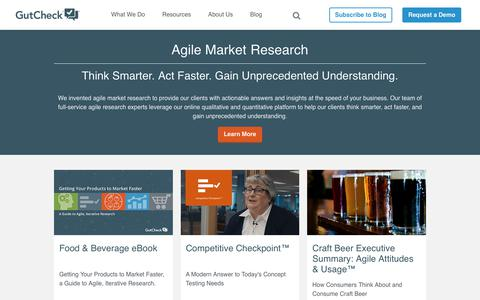 GutCheck | Agile Market Research Solution