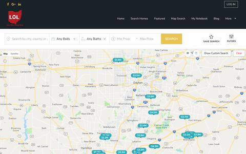 Screenshot of Maps & Directions Page searchdaytonhouses.com - Homes for Sale   FREE DAYTON MLS SEARCH - captured Oct. 21, 2018