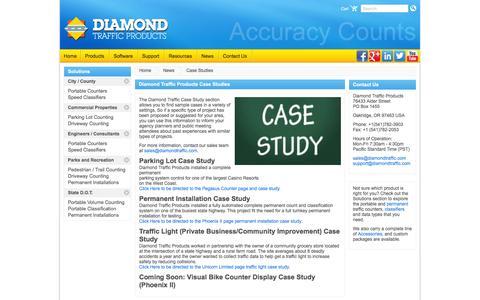 Screenshot of Case Studies Page diamondtraffic.com - Case Study | Diamond Traffic Products - captured Feb. 9, 2016