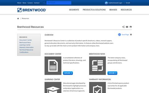 Resources - Brentwood Industries