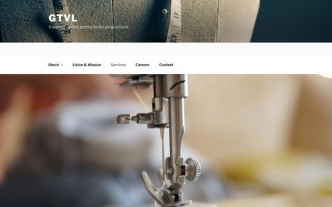 Screenshot of Services Page gtvl.com - Services – GTVL - captured July 12, 2017