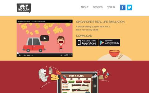 Screenshot of Home Page whymoolah.com - WhyMoolah - Play out life in Singapore! Practical information, none of the jargon! - captured Jan. 26, 2015