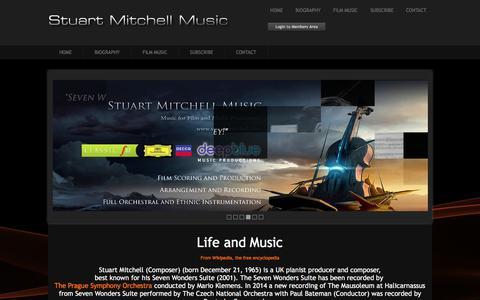 Screenshot of About Page stuart-mitchell.com - Stuart Mitchell - UK Pianist and Composer Biography - captured Feb. 24, 2018
