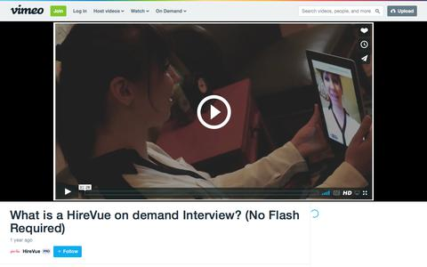 What is a HireVue on demand Interview? (No Flash Required) on Vimeo