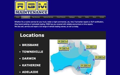 Screenshot of Locations Page rgmmaintenance.com.au - rgmmaintenance | Locations - captured Nov. 30, 2016