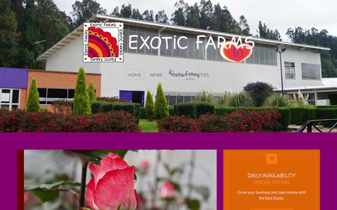 Screenshot of Home Page exoticfarms.com - Exotic Farms | Ultra High Quality Roses | Excellence is our Passion - captured July 25, 2015