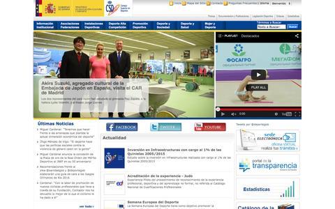 Screenshot of Home Page deporte.es - Portal del Consejo Superior de Deportes —             Portal del Consejo Superior de Deportes - captured March 4, 2016