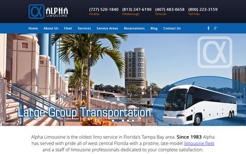 Screenshot of Home Page stpetelimo.com - Tampa Limo Service | St Pete Party Bus | Clearwater Limousine & Chauffeur - captured Feb. 5, 2016