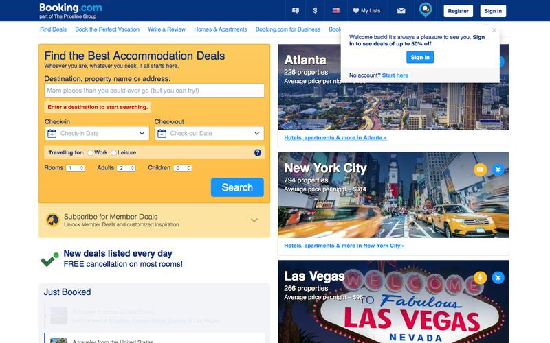 Booking.com: 1,013,000 hotels worldwide. 101+ million hotel reviews.