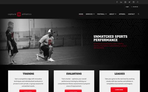 Screenshot of Home Page captureathletics.com - Capture Athletics - Athletic Performance Training & Testing - captured June 17, 2015