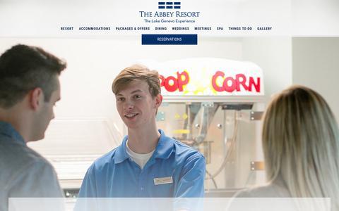 Screenshot of Jobs Page theabbeyresort.com - Employment Opportunities | The Abbey Resort - captured Sept. 21, 2018