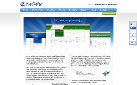 Screenshot of Testimonials Page netrefer.com - NetRefer - Testimonials - captured Sept. 23, 2014