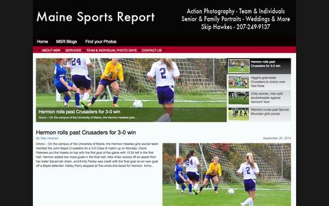 Screenshot of Home Page mainesportsreport.com - Maine Sports Report & Photography   - captured Oct. 1, 2014