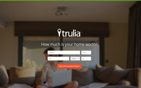 Screenshot of Landing Page trulia.com - Trulia Home Values - captured Oct. 27, 2014