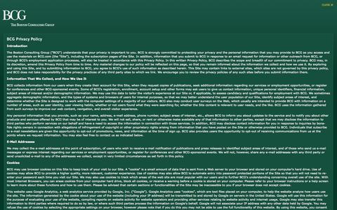 Screenshot of Privacy Page bcg.com - BCG - Privacy - captured Oct. 26, 2014