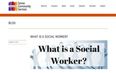 Screenshot of Blog seniorcommunity.org - Senior Community Servicesblog Archives - Senior Community Services - captured Feb. 17, 2016