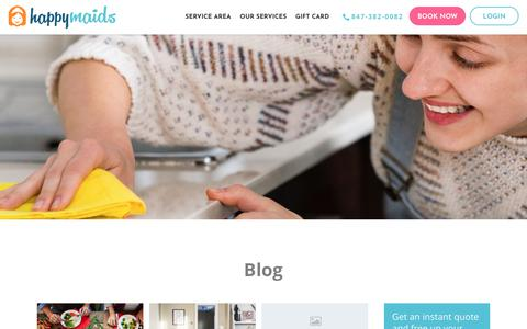 Screenshot of Blog happymaids.com - Blog 2 - Happy Maids - captured July 16, 2018