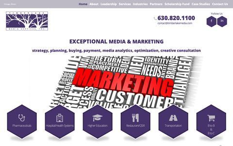 Screenshot of Home Page timberlakemedia.com - Media Management Company   Timberlake Media Services - captured Oct. 18, 2018