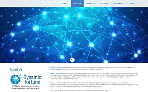 Screenshot of About Page dynamicfortune.co.uk - About Us   Recruitment Solutions - captured Aug. 2, 2016