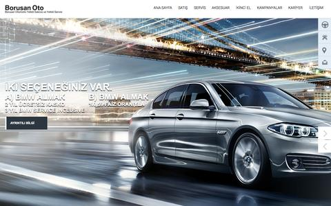 Screenshot of Home Page borusanoto.com - Borusan Oto | BMW, MINI, Land Rover Yetkili Satıcısı ve Yetkili Servisi - captured Nov. 10, 2015
