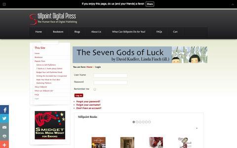 Screenshot of Login Page stillpointdigital.com - Stillpoint Digital Press - Login - captured Oct. 7, 2014