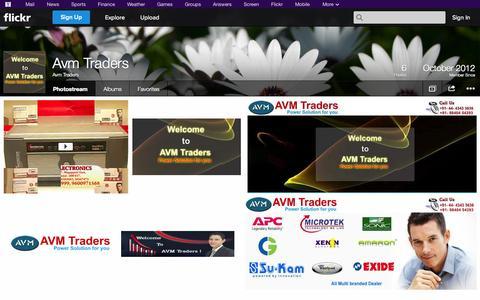 Screenshot of Flickr Page flickr.com - Flickr: Avm Traders' Photostream - captured Oct. 23, 2014