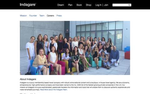 Screenshot of Jobs Page indagare.com - Careers - Indagare - captured Nov. 11, 2015
