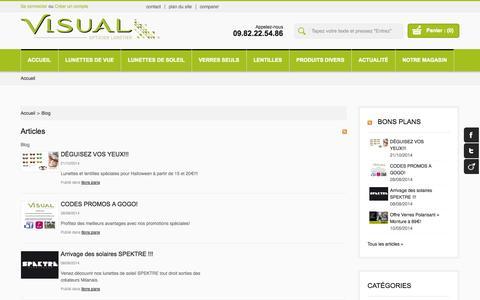 Screenshot of Blog opticien-visual-serris.fr - Opticien Visual Serris - Blog - captured Oct. 26, 2014