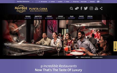 Nine Restaurants at Hard Rock Hotel & Casino Punta Cana