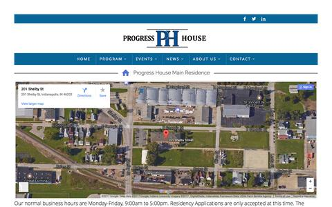 Screenshot of Locations Page progresshouse.org - Locations – Progress House - captured May 23, 2017